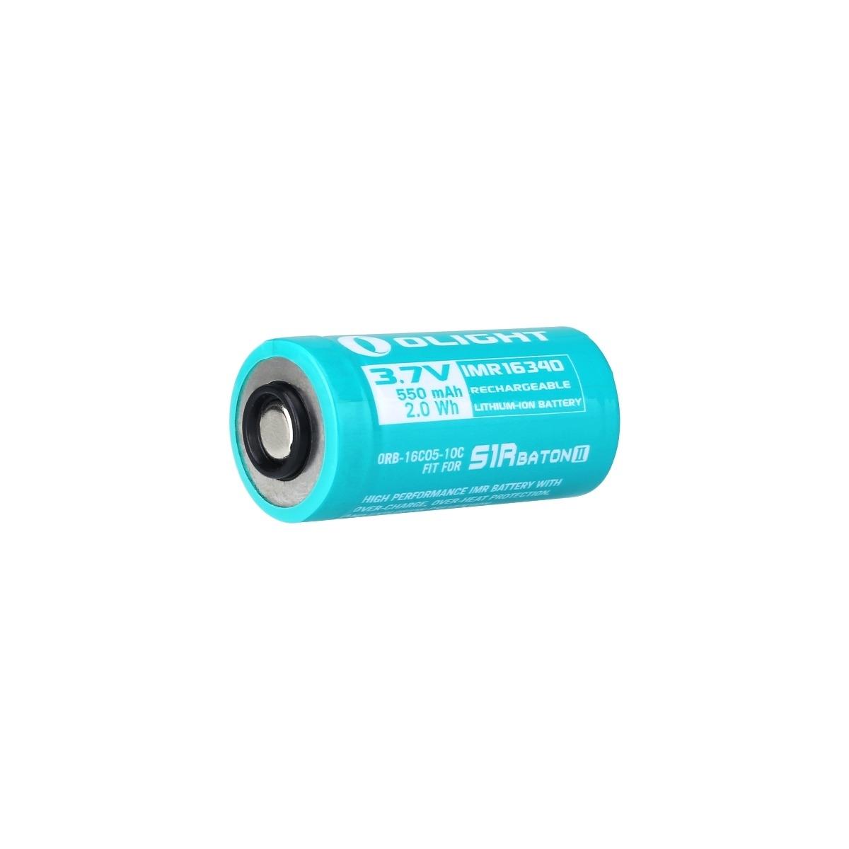 Olight 16340 550 mAh IMR Batteria per S1R Baton II / Perun Mini