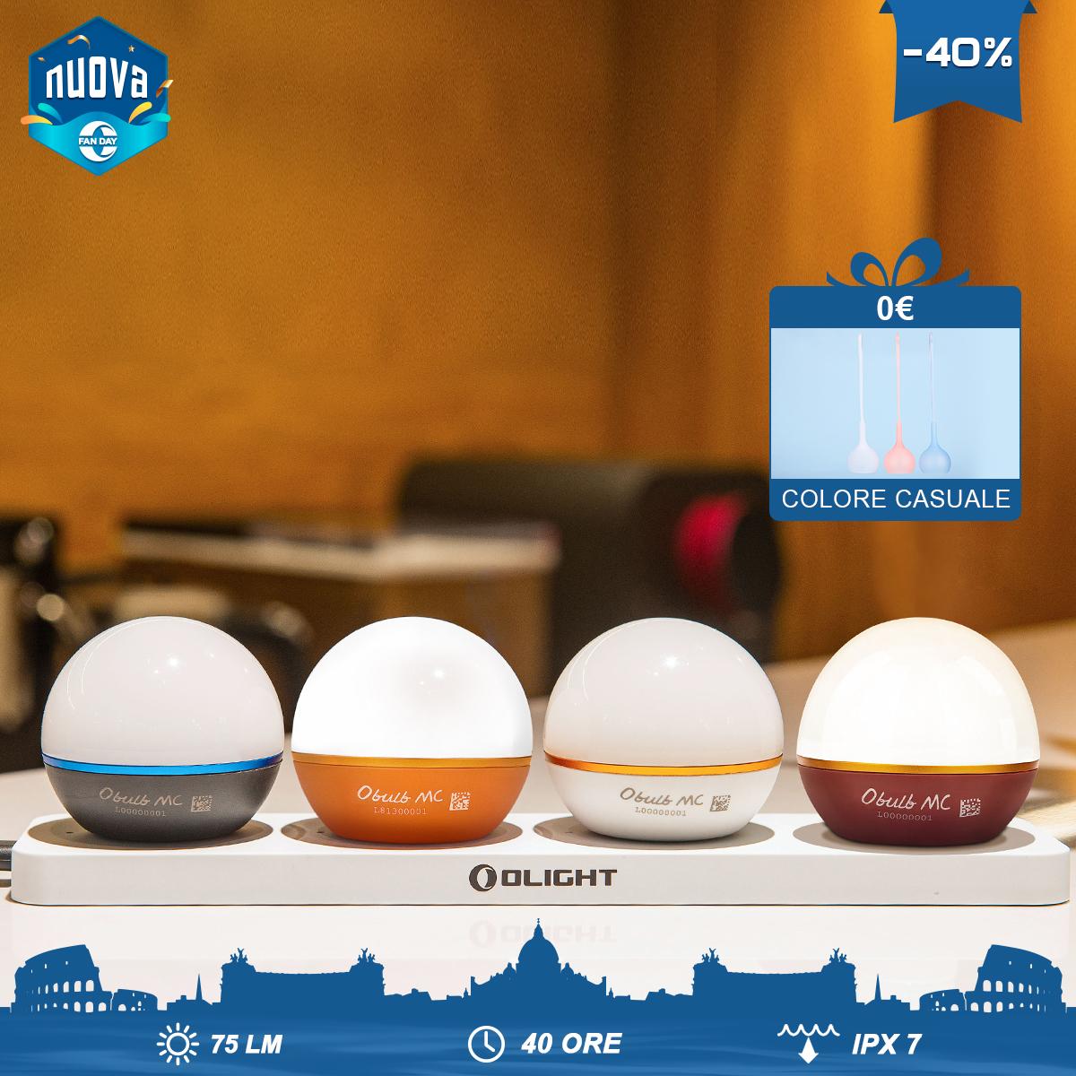 Olight Nuova Obulb MC - 4 colori in 1 pacchetto