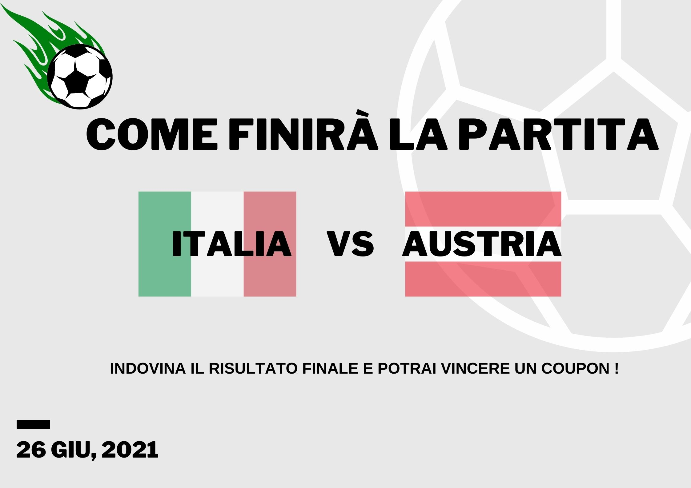 Euro 2020: Italia VS Austria Indovinate il risultato finale