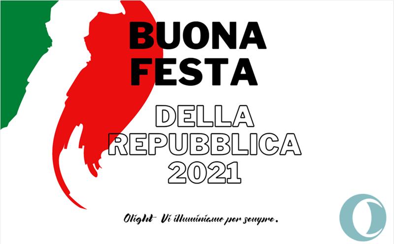 Buona Festa della Repubblica 2021 Auguri da Olight Italia