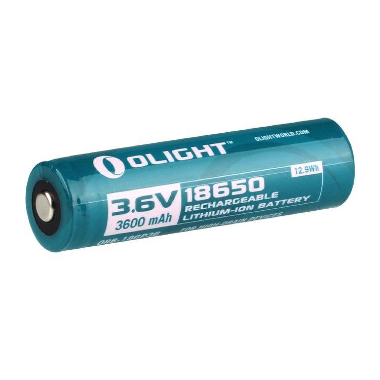Batteria olight 18650 3600mAh per S30R II, R20 Seeker, R20 Javelot