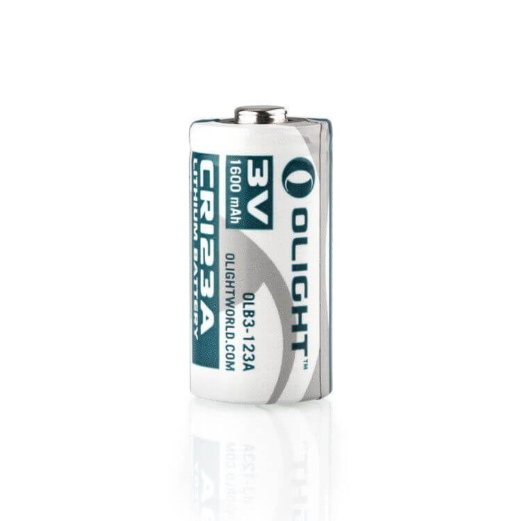 Batteria Olight CR123A 3V 1.600 mAh per S1 Baton, H1 NOVA