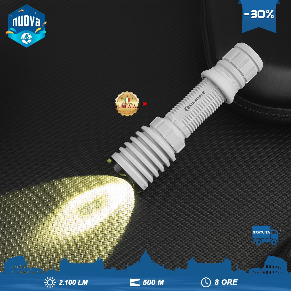 Olight Warrior X Pro Torce LED Torcia Tattica Per Caccia Notturna-Bianco