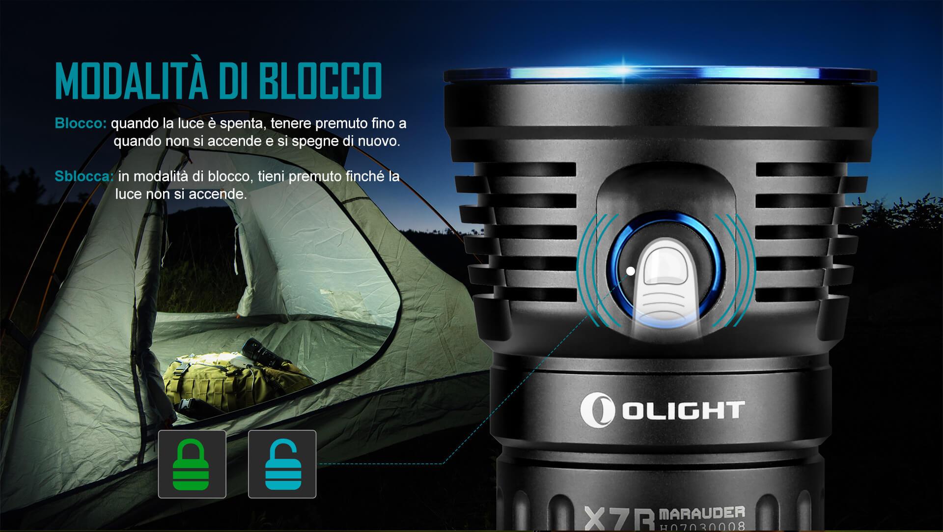 Olight X7R Marauder, Torce Potentissime